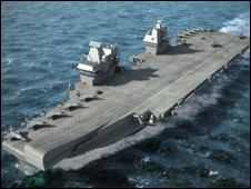 An aircraft carrier